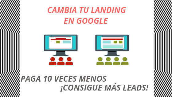 landing page en publicidad de google